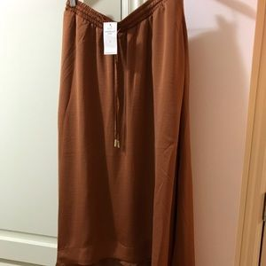 Banana Republic Rust Parachute Midi Skirt