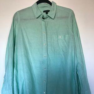 J.Crew linen button up boyfriend shirt