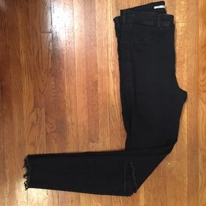 Zara Black Jeggings with Knee Slits