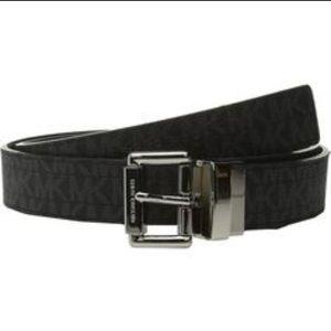 Michael kors belt logo black reversible nwt