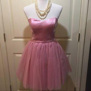 Betsey Johnson Baby Pink Tulle Sequin Party Dress