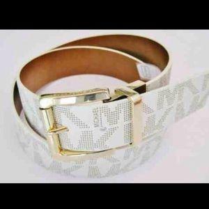Michael kors logo gold  belt brown nwt reversible