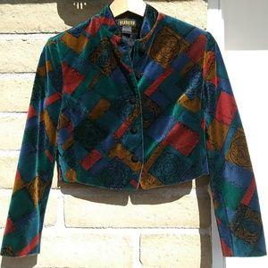 Beautiful Vintage Velvet Georgiou Coat