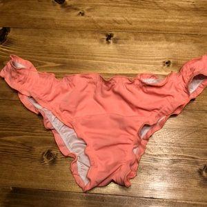 Victoria's Secret bright coral ruched bottoms!