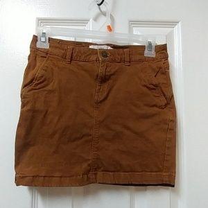H &M khaki skirt