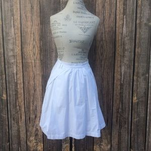 Anthropologie Odille white high waste skirt size 6