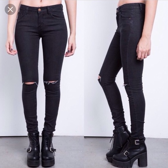 273bbe339e9 H&M Jeans | Hm Skinny Stretch Low Rise Ankle Ripped Knee Jean | Poshmark