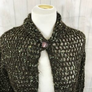 Free People open crochet cardigan Sz Medium