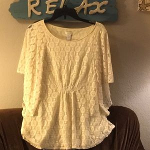 Cream and lace tunic