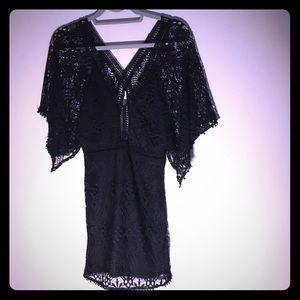 LF Black Lace Mini Dress/Tunic Size M 🐆✨