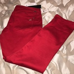 "DL1961 ""Toni high rise crop"" size 31 red pants"