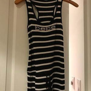 Bebe stripped maxi dress xs