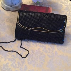Handbags - Black metal mesh evening bag
