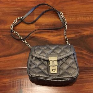 Banana Republic Pewter Quilted Crossbody