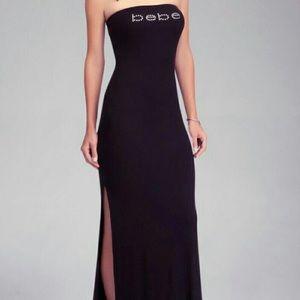 Bebe tube top strapless maxi dress