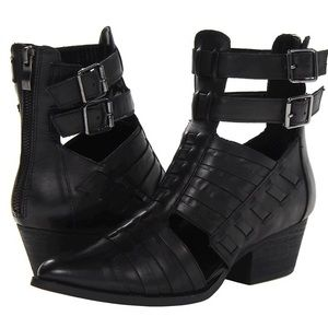 Chinese Laundry Indigo Girl Black Cut Out Booties