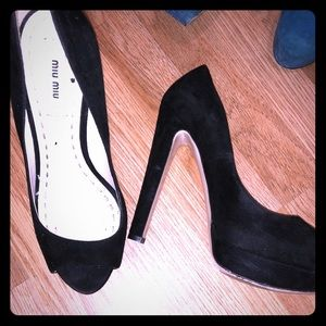 Miu Miu peep toe platform shoes