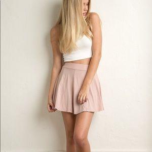 Brandy Melville Pink Suede Skirt💕