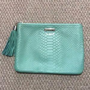 Gigi New York clutch - turquoise. Initials AMB