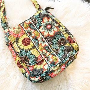 Vera Bradley hipster flower shower messenger bag