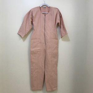 8ebfac753ca Apiece Apart Pants - Apiece Apart Flame Thrower Pink Denim Jumpsuit