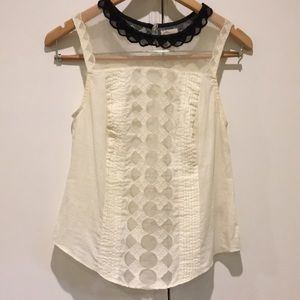 Anthropologie Postmark Lace Babydoll Blouse 00P