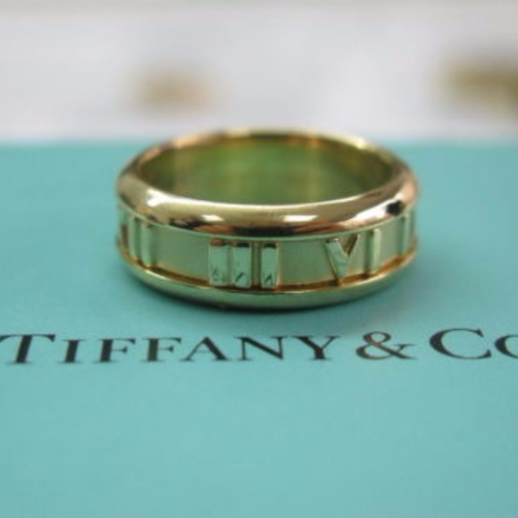 14b60f678 Tiffany & Co. Jewelry | Tiffany Co 18kt Atlas Yellow Gold Ring Size ...