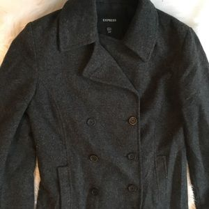 Express charcoal peacoat