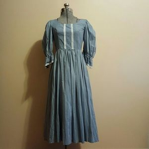Vintage Blue Prairie Dress