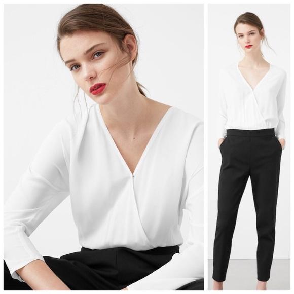 dbc86f78c8b Wrap Black And White Jumpsuit. M 5a10d0f07f0a059a07041cb0