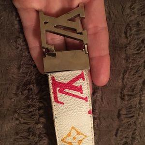 Louis Vuitton White colorful belt