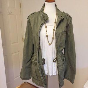 Nordstrom • Green Cotton Utility Jacket