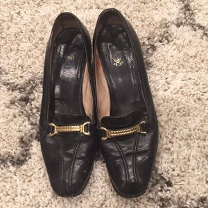 Gucci Black Leather VINTAGE Loafers