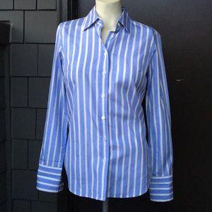 J. Crew blue yellow Slim Fit button down shirt