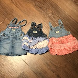 OshKosh overall dress bundle