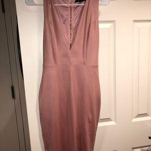 Dresses & Skirts - Pink v neck plunge dress