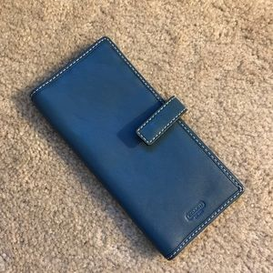 Authentic Coach Navy Leather Wallet