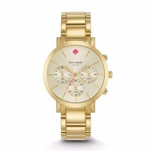 Kate Spade Gramercy Chronograph Gold Watch