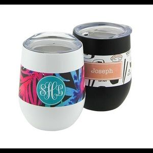 Personalized Steel Stemless Wine Cup