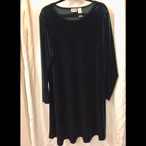 Dresses & Skirts - Green Velvet Dress