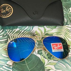 Brand new Dark blue rayban aviator sunglasses