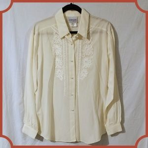 Vintage ivory button down top