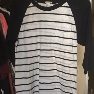 Forever 21 Navy Blue and white striped tee
