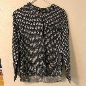 Horse Print Liz Claiborne Printed Shirt Blouse