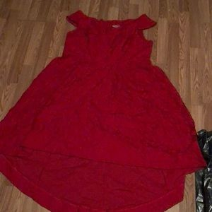 Size 26 Lane Bryant red lace high low dress