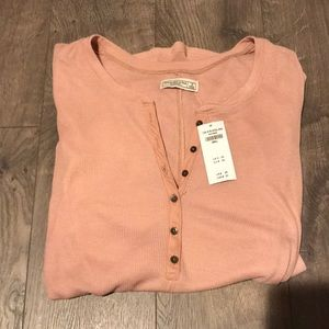 NWT Abercrombie & Fitch pink long sleeve