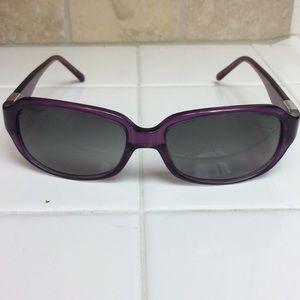 Calvin Klein purple sunglasses