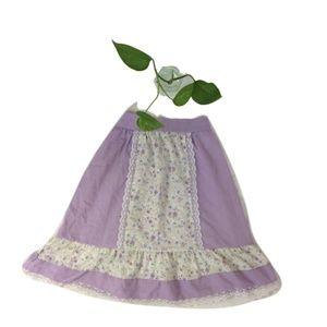 Vintage Girls Lavender Bohemian Prairie Girl Skirt