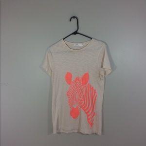 J. Crew Giraffe Graphic Tee Shirt