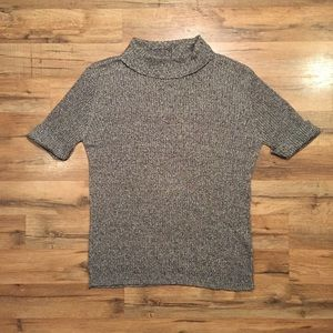 Old Navy gray grain ramie turtleneck sweater, XL